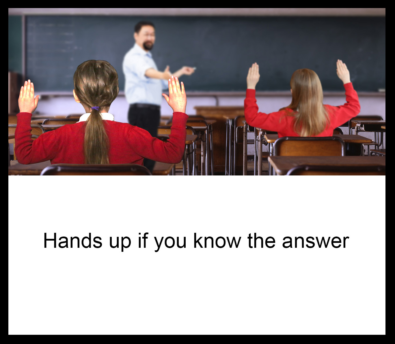 Hands up if you know the answer; Sam Rutherford